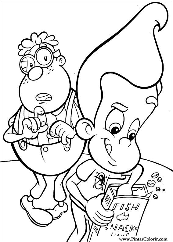 Jimmy Neutron Para Colorir