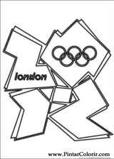 Pintar e Colorir Jogos Olimpicos - Desenho 014