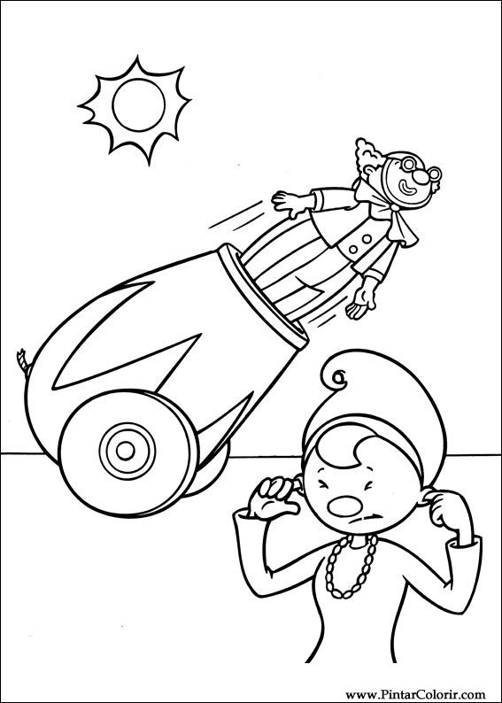 Drawings To Paint & Colour Jojo Circus - Print Design 031