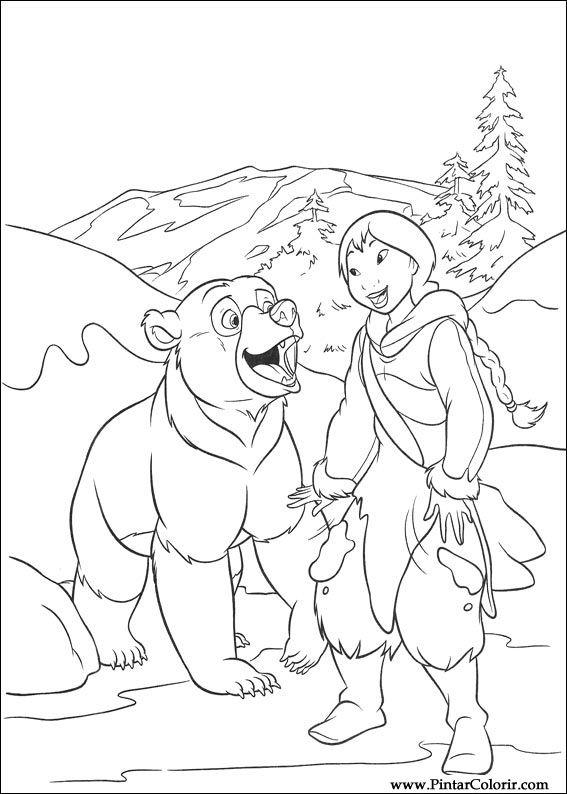 Hermano Oso Disney 010 Dibujos Y Juegos Para Pintar Y Colorear