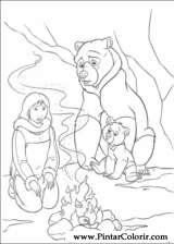 Pintar e Colorir Kenai E Koda 2 - Desenho 004