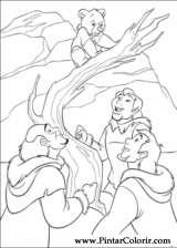 Pintar e Colorir Kenai E Koda 2 - Desenho 008