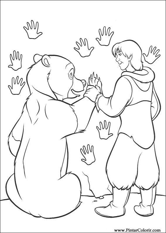 Pintar e Colorir Kenai E Koda - Desenho 088