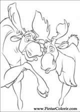 Pintar e Colorir Kenai E Koda - Desenho 019