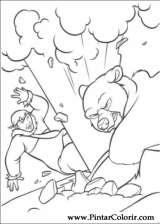 Pintar e Colorir Kenai E Koda - Desenho 032