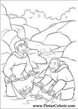 Pintar e Colorir Kenai E Koda - Desenho 055
