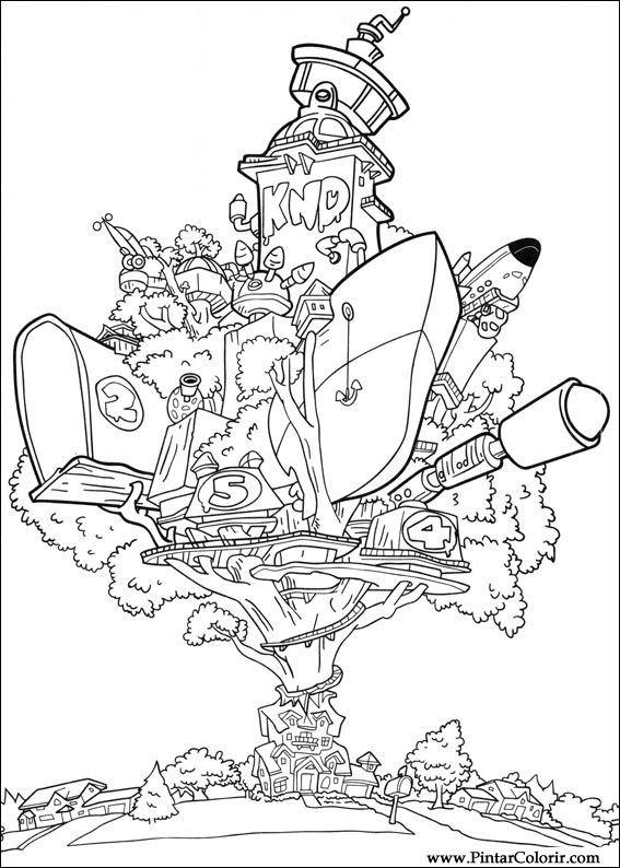 Dibujos para pintar y Color Los Chicos del Barrio - Diseño de ...