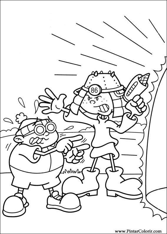 Pintar e Colorir Kids Next Door - Desenho 028