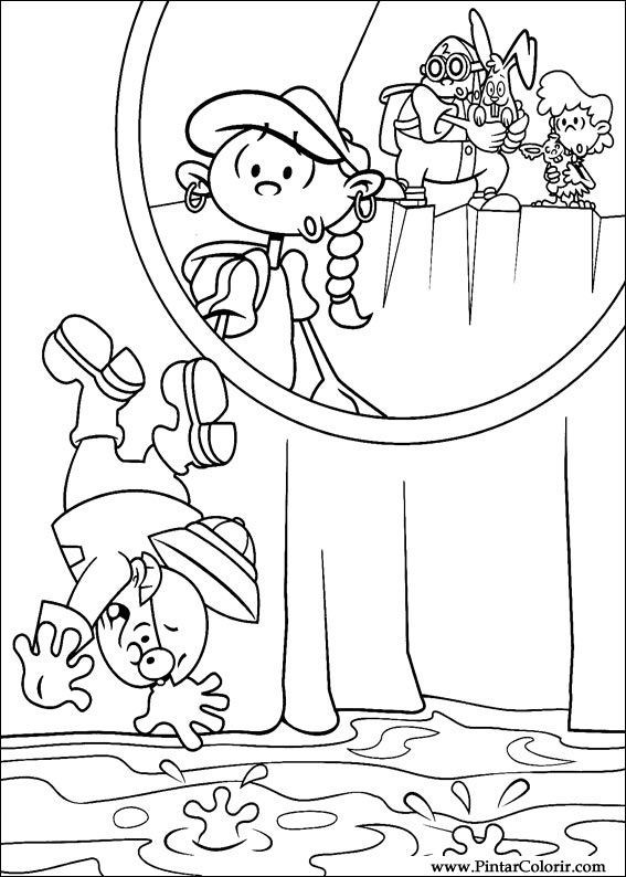 Drawings To Paint & Colour Kids Next Door - Print Design 060