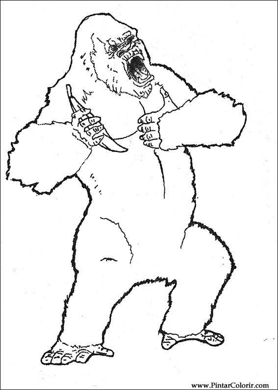 Tekeningen Te Schilderen amp Kleur King Kong Print Design 016
