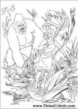 Pintar e Colorir King Kong - Desenho 008