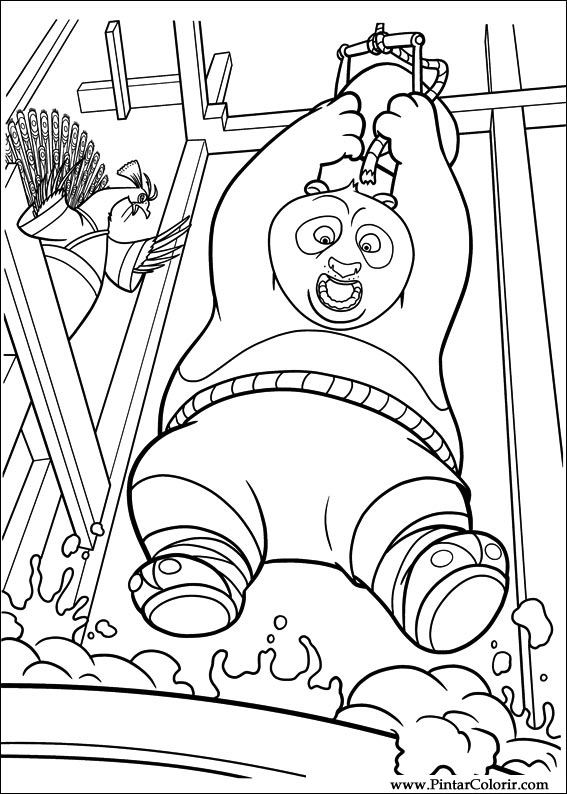 Drawings to paint colour kung fu panda 2 print design 027 for Kung fu panda 2 coloring pages