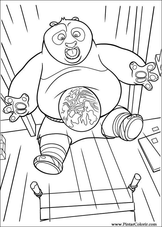 Drawings To Paint & Colour Kung Fu Panda 2 - Print Design 033