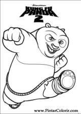 Pintar e Colorir Kung Fu Panda 2 - Desenho 001