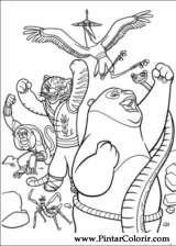Pintar e Colorir Kung Fu Panda 2 - Desenho 002
