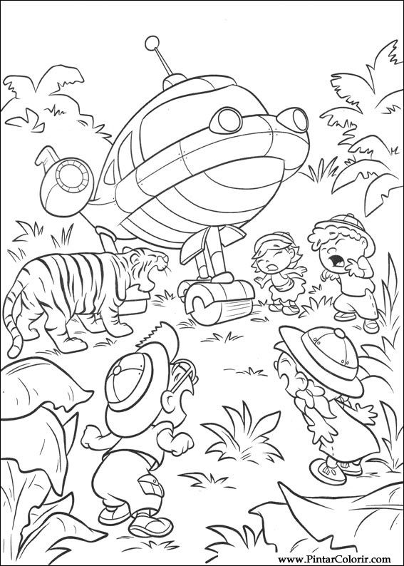 Drawings To Paint & Colour Little Einsteins - Print Design 017