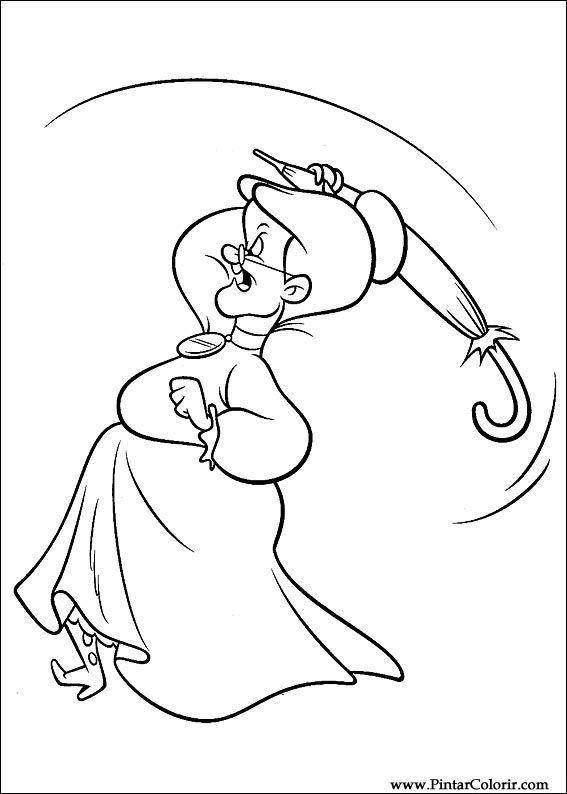 Dibujos para pintar y Color Looney Tunes - Diseño de impresión 014