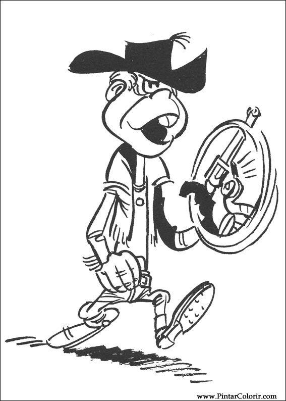 Pintar e Colorir Lucky Luke - Desenho 005