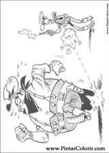 Pintar e Colorir Lucky Luke - Desenho 010