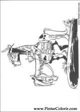 Pintar e Colorir Lucky Luke - Desenho 028