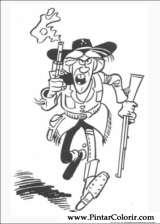 Pintar e Colorir Lucky Luke - Desenho 031