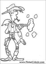 Pintar e Colorir Lucky Luke - Desenho 052