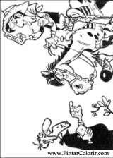 Pintar e Colorir Lucky Luke - Desenho 055