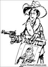 Pintar e Colorir Lucky Luke - Desenho 058