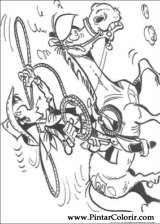 Pintar e Colorir Lucky Luke - Desenho 059