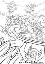 Pintar e Colorir Madagascar - Desenho 006