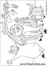 Pintar e Colorir Madagascar - Desenho 009