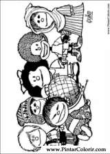 Pintar e Colorir Mafalda - Desenho 001