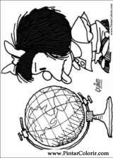 Pintar e Colorir Mafalda - Desenho 006