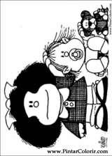 Pintar e Colorir Mafalda - Desenho 007
