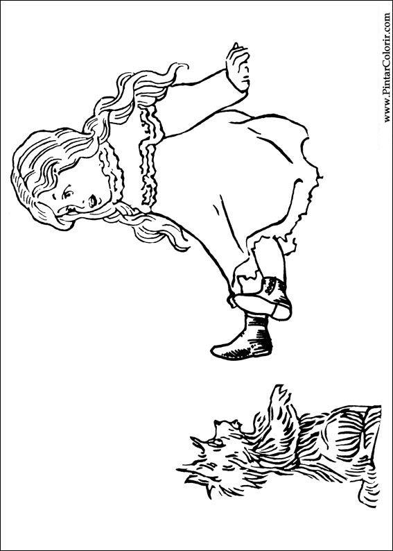 Dibujos para pintar y Color Mago de Oz  Imprimir Diseo 002