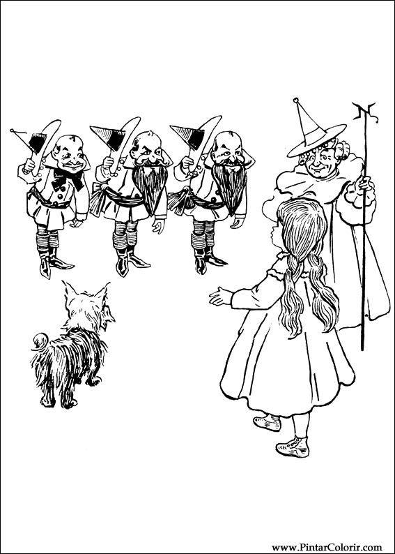 dessins de peindre et couleur magicien d u0027oz imprimer conception 003