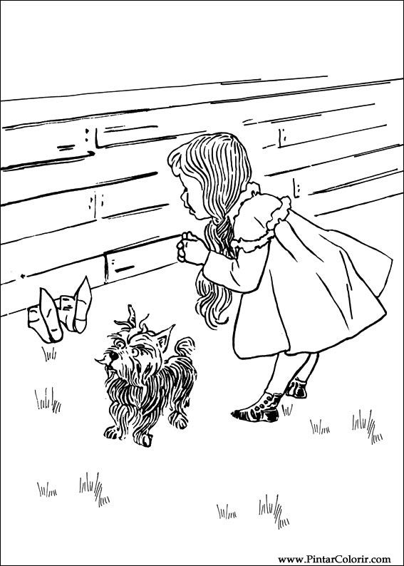 coloring pages wizard of oz - drawings to paint colour wizard of oz print design 005