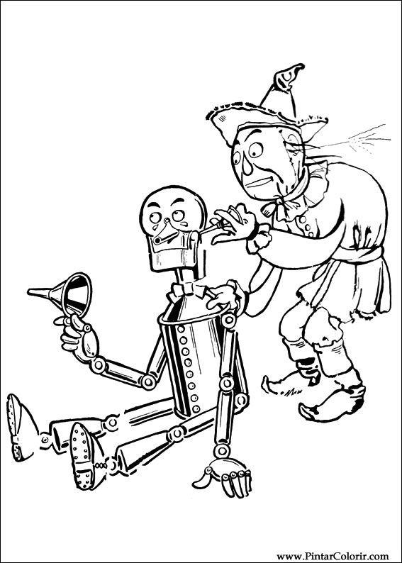 Dibujos para pintar y Color Mago de Oz  Imprimir Diseo 014