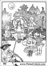 Pintar e Colorir Magico De Oz - Desenho 004