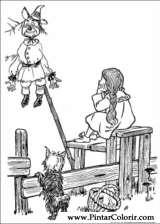 Pintar e Colorir Magico De Oz - Desenho 008