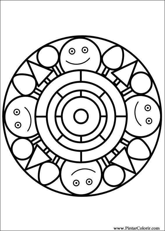 Ritningar Att mu00e5la u0026 Fu00e4rg Mandalas - Print Design 044