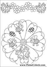 Pintar e Colorir Mandalas - Desenho 001