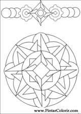 Pintar e Colorir Mandalas - Desenho 012