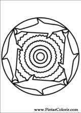 Pintar e Colorir Mandalas - Desenho 043