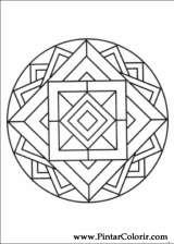 Pintar e Colorir Mandalas - Desenho 059