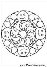 Pintar e Colorir Mandalas - Desenho 062
