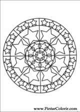 Pintar e Colorir Mandalas - Desenho 070