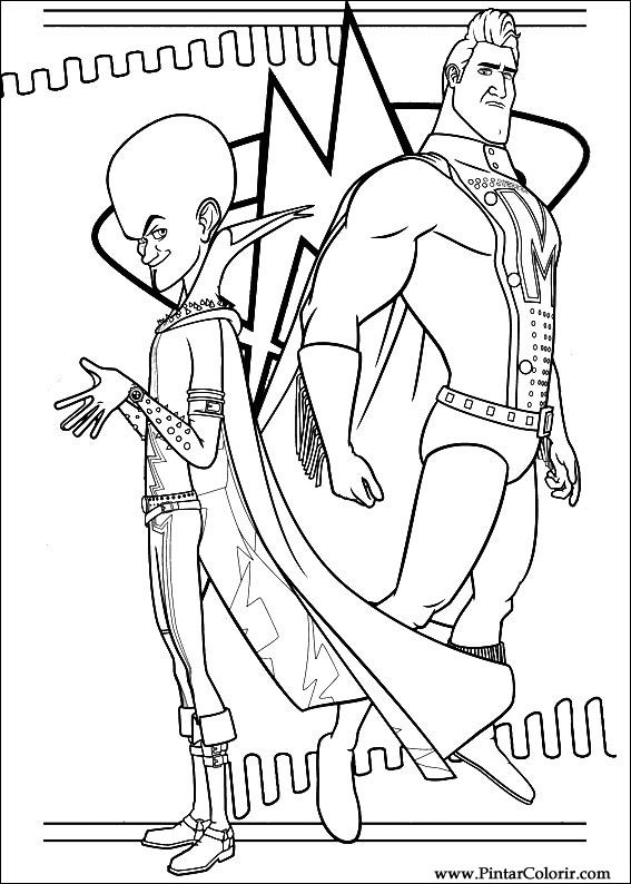 megamind coloring pages printable - megamind drawing images galleries
