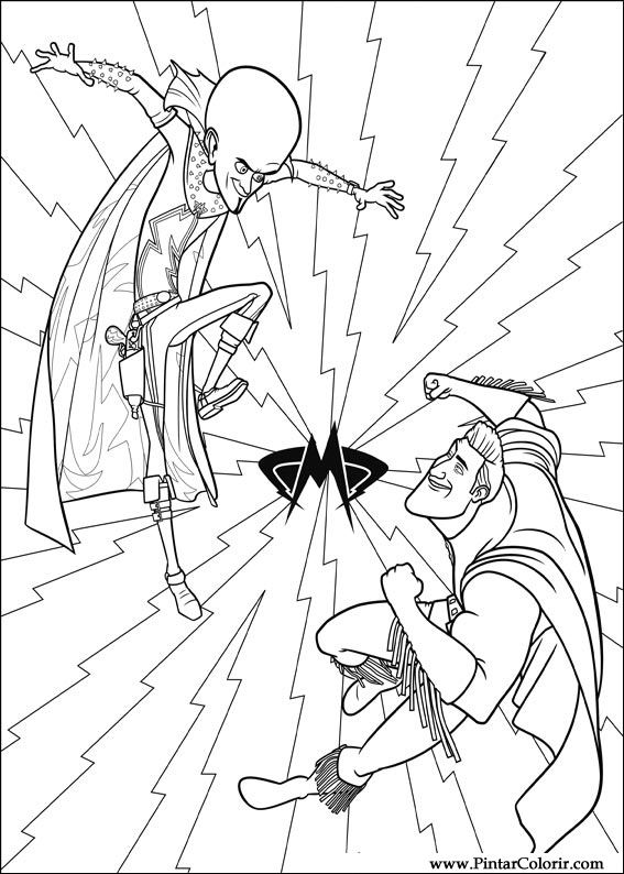 megamind coloring pages - drawings to paint colour megamind print design 003