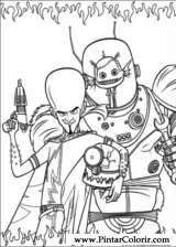 Pintar e Colorir Megamind - Desenho 004